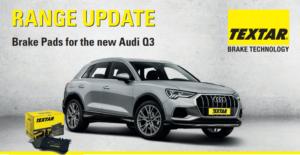 Нови продукти в гамата на TEXTAR. Спирачни накладки за Audi A6, LEXUS UX, Audi Q3.