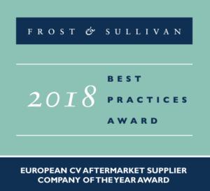 """VALEO получи наградата """"Европейска компания доставчик на афтърмаркет услуги за тежкотоварни автомобили за 2018 """" от Frost & Sullivan"""