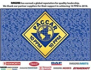 """Dayco получи наградата """"Сертификат за постигнато качество"""" на PACCAR"""
