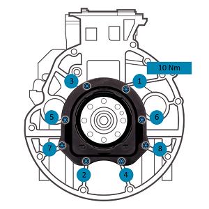 Смяна на уплътнението на коляновия вал на PSA / Ford