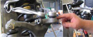 Регулиране на сходимост на колелата при окачвания  с четири носача