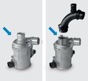 Mercedes Benz – CWA 400 Електрическата водна помпа е в период на замяна: изискват се отделни входни връзки