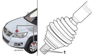 Autodocta изследва пукане от предното колело на Volkswagen Tiguan от 2008 г.