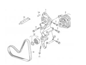 Конверсия на пистов ремък 6PK1140 ELAST с 6PK1070 за Audi, VW, Seat и Skoda 1.6 TDI и 2.0 TDI (common rail)