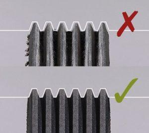 Идентифициране на износването на аксесоарния ремък
