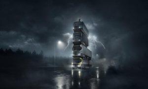 Volvo пуска четири нови камиона и ги подрежда един върху друг в грандиозен филм – с президента на върха