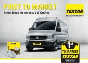 TEXTAR – първи на афтърмаркет пазара със задни спирачни дискове за новия VW Crafter